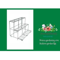 Versatile Garden Plant Accessories , Durable Black Outdoor Metal Flower Plant Pot Stand Manufactures