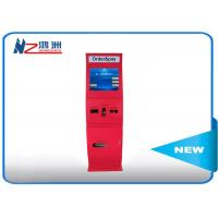 Windows wireless advertising touch screen cash kiosk machines with sheet metal shell Manufactures