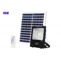 Quality Solar Outdoor Rechargable Adjustable LED Flood Light 40W Remote Control for sale