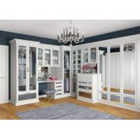 MDF U Shape Walk In Closet Wardrobe With Hang Rob , Simple Design Drawings Manufactures