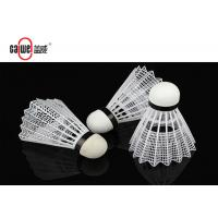 Formed Plastic Badminton Shuttlecock For Training / Match Customized Color Manufactures