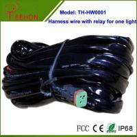 High quality Automobile Harness Wire with Relay and Deutch connectors for 1 LED light Manufactures