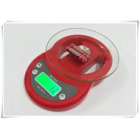 Quality Tempered Glass Home Electronic Scale Red Color For Kitchen Weighing Food for sale