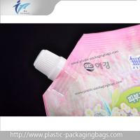 Washing Liquid Plastic Stand Up Packaging Bags PET / NY / PE Spout Pouches Manufactures