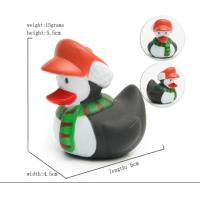 Cute Deer / Penguin Christmas Rubber Duck Baby Tub Toys 6cm Length *4.5cm Height Manufactures