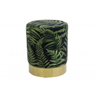 Round Design Printed Velvet Nordic Counter Stool No Knock Down Manufactures