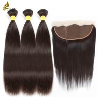 8a 1b Color Malaysian Straight Virgin Hair With 13 * 4 Frontal Lace Closure Manufactures