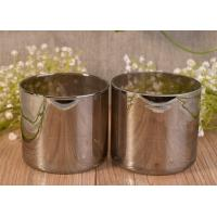 Luxury Silver Handmade Glass Candle Holders For Wedding / Home Decoration Manufactures