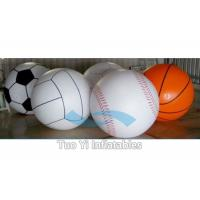 Attractive 0.18 mm PVC Inflatable Sports Themed Balloons Logo Printed Manufactures
