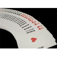 Quality Linen Finish Casino Playing Cards Black Core Paper Material with UV Sign for sale