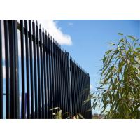 Black powder coated spear top galvanised tubular metal fence Manufactures