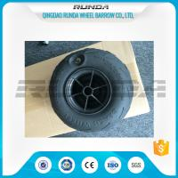 No Axle Pneumatic Wheelbarrow Wheels Puncture Resistant PVC 230mm*115mm Manufactures
