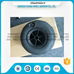No Axle Pneumatic Wheelbarrow WheelsPuncture Resistant PVC 230mm*115mm Manufactures