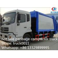 Quality Dongfeng 4X2 LHD10tons Compress Garbage truck for sale, hot sale best price dongfeng 210hp/180hp garbage compacted truck for sale