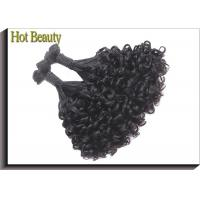 Unprocessed Funmi Human Raw Virgin Hair Extensions No Tangle No Shed Curly Hair Manufactures
