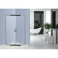 Diamand Stainless Steel Shower Enclosures With Top / Bottom Double Wheels Manufactures