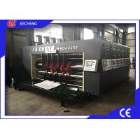 4 Color Corrugated Flexo Printing Machine With Lead Edge Feeder Water Ink Manufactures
