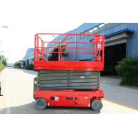China Hydraulic Aerial Self Propelled Scissor Lift 8m Full Electric Dc Battery on sale