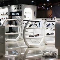 Beautiful retail lady shoe shop design with customized size Manufactures