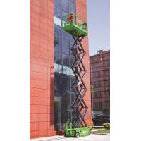 Green 10m Self Propelled Scissor Lift With Hydraulic Motor Driving Manufactures