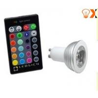 3w GU10/MR16 high power RGB Color Changing LED Light Bulb With Remote Control 170lm  Manufactures