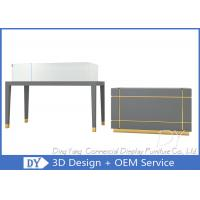 OEM Gray Wood Jewelry Counter Cases / Jewellery Counter Design Manufactures
