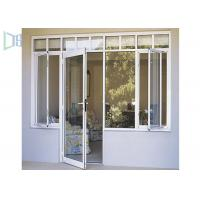 Residential Aluminium Swing Door , 70 Series Interior Aluminium Hinged Doors Manufactures