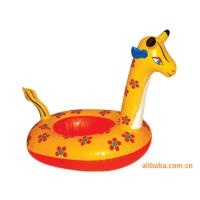 Interesting Deer Inflatable Swimming Ring For Babies , Summer Pool Swim Rubber Ring Tube Manufactures