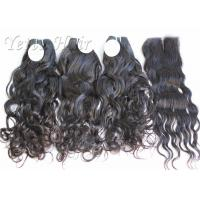 Double Layer Lustrous 100% Brazilian Virgin Hair Weave With Natural Color Manufactures