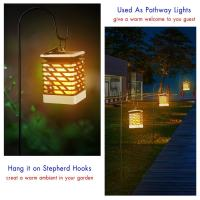 Quality 75LED Solar Lights Outdoor LED Flickering Flame Torch Light Solar Powered Lantern Hanging Decorative Pathway Garden Lamp for sale