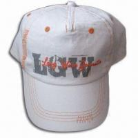 5-panel Women's Cap with Flocking Printing, Made of Cotton Fabric Manufactures