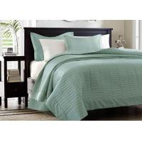European Style Cotton Full Size Bed Quilt , Real Simple 3Pcs King Size Bed Quilts Manufactures