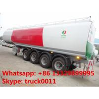 CLW brand new designing 4 axles 60m3  oil tank trailer for sale, hot sale 4 axles 60cbm bulk diesel tank trailer Manufactures