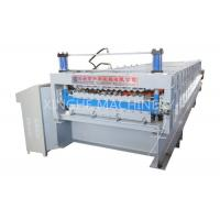 Aluminum Roof Sheet Double Layer Roll Forming Machine , IBR Step Tile Roll Forming Machine Manufactures