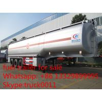 carbon steel 55,000L fuel trailer for sale, factory sale best price CLW 38.5tons gasoline tank trailer for sale Manufactures