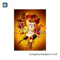 Colorful 3D Lenticular Poster Printing For NBA Advertising 50 * 71cm Manufactures