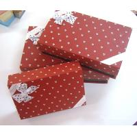 Red 6 * 4 * 2.5 Inch Paper Chocolate Gift Packaging Boxes With Bowknot Manufactures