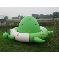 Durable PVC Turtle Shaped Inflatable Water Floats With Air Pump / Repair Kits Manufactures