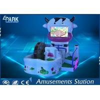 Lovely Cow Design Kids Coin Operated Game Machine 3 Theme Scence Manufactures