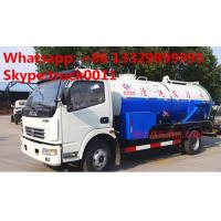 HOT SALE! best price DONGFENG 4*2 Cleaning Suction Sewage truck 6m3, dongfeng high pressure jetting sewer truck for sale Manufactures