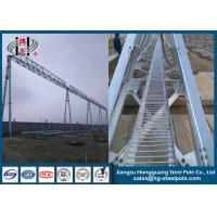 750KV Substation Steel Structures Conical , Round Q345 Hot Dip Galvanized Manufactures
