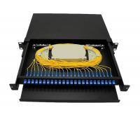Quality 12 To 96 Core 1U Fiber Optic Terminal Box / FTTH Optical Fiber Patch Panel for sale