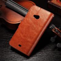 PU Handmade Nokia Lumia Leather Case Flip Cover For Nokia 535 / 540 Anti - Slip Manufactures