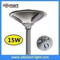 Quality New 15W 1500lm UFO Solar Garden Lights All In One Parking Lot Lamp Solar Energy Products With 30W Solar Panel Aluminum for sale