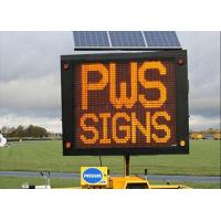 Full Color Outdoor LED Traffic Display Solar Powered VMS Control Manufactures