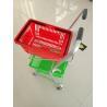 Buy cheap Super Market Shopping Basket Trolley , Flat Casters Double Basket Shopping Trolley from wholesalers