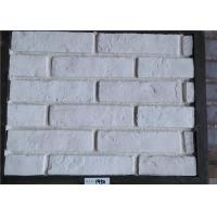 White Faux Exterior Brick Decoration Thickness 10-15mm Solid Surface Manufactures