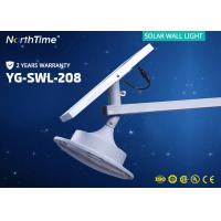 12V 6000K Integrated Solar Powered LED Wall Light For Garden / Roadway Manufactures
