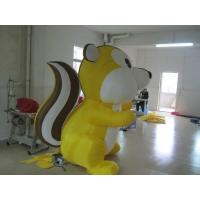 Fashion Yellow Inflatable Squirrel Animal Advertising Products Fireproof Manufactures