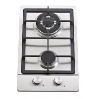 Stainless Steel 2 Burner Gas Hob / Gas Stove Cast Iron Support Matel Knob Manufactures